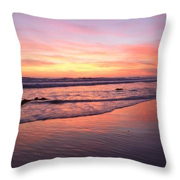 Surfer Afterglow Throw Pillow