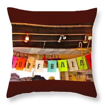 Throw Pillow featuring the photograph Surfer Bazaar by Beth Saffer
