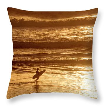 Throw Pillow featuring the photograph Surfer by Delphimages Photo Creations