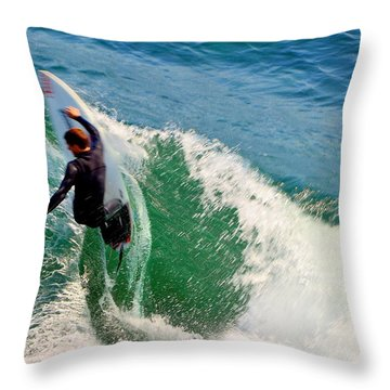 Surfer, Steamer Lane, Series 18 Throw Pillow