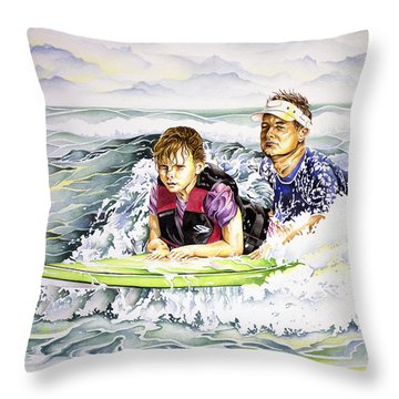 Surfers Healing Throw Pillow