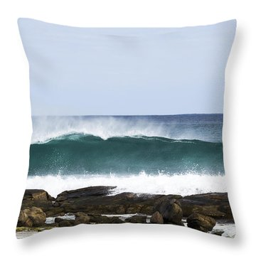 Throw Pillow featuring the photograph Surfers Point by Angela DeFrias