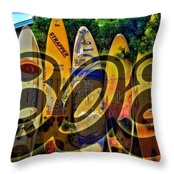 Surfin' 808 Throw Pillow by DJ Florek