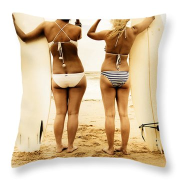 Surfing Forecast Throw Pillow