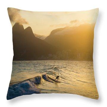Surfing Magic Throw Pillow by Lana Enderle