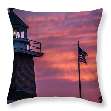 Surfing Museum Full Color  Throw Pillow