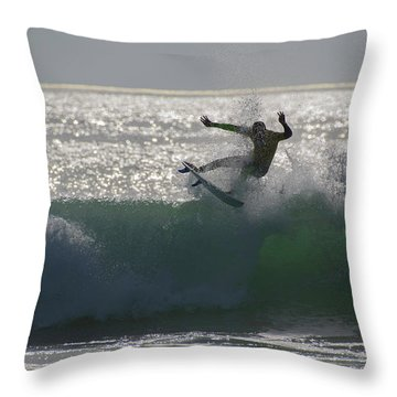 Surfing The Light Throw Pillow