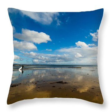 Surfing The Sky Throw Pillow
