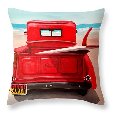 Surfn Throw Pillow