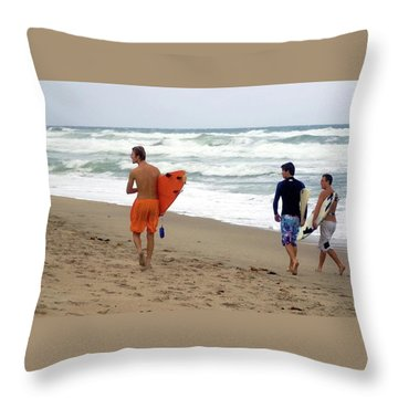Surfs Up Boys Throw Pillow