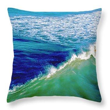 Surfs Up Daytona Beach Throw Pillow
