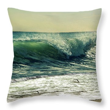 Throw Pillow featuring the photograph Surf's Up by Laura Fasulo