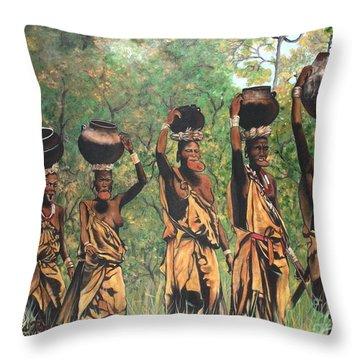 Surma Women Of Africa Throw Pillow