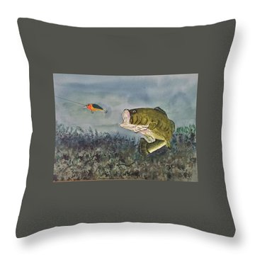 Surprise Coming Throw Pillow