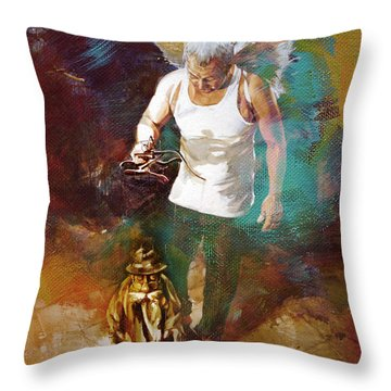 Throw Pillow featuring the painting Surreal Art  by Gull G