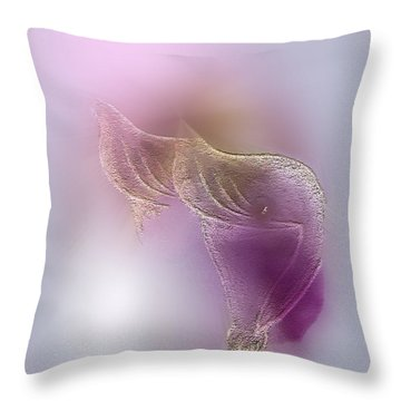 Throw Pillow featuring the digital art Surreal Calla 2 by John Krakora