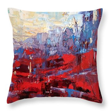 Surreal City Throw Pillow by NatikArt Creations