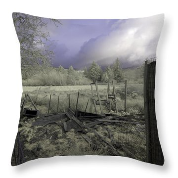 Throw Pillow featuring the photograph Surreal Cloud And Pasture by Chriss Pagani