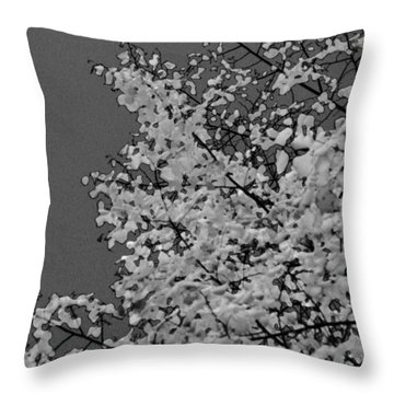 Surreal Deconstruction Of Fall Foliage In Noir Throw Pillow