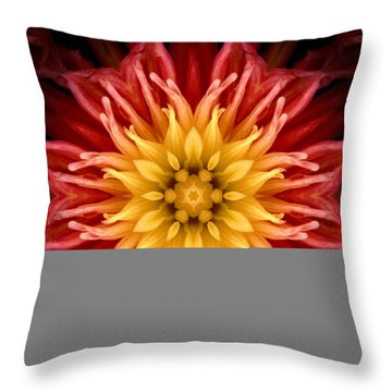 Surreal Flower No.1 Throw Pillow