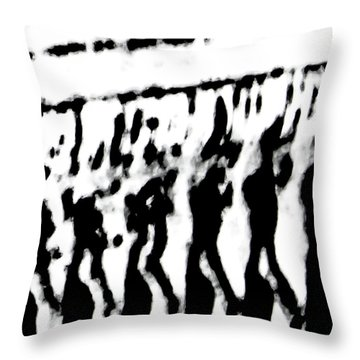 Surreal From Tire Tracks In Sand Throw Pillow