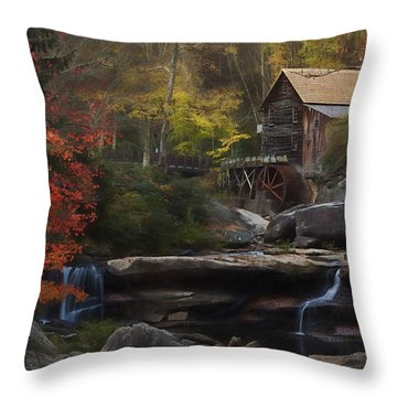 Surreal Glade Creek Throw Pillow