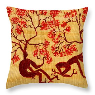 Surreal In Color Throw Pillow