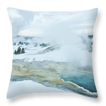 Surreal Landscape Throw Pillow