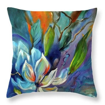 Surreal Magnolias Throw Pillow
