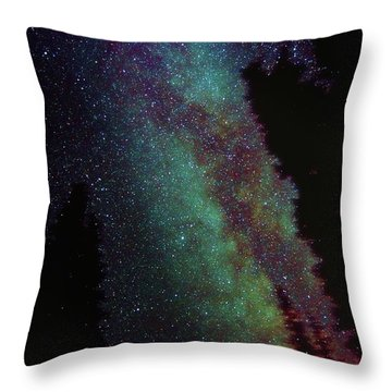 Surreal Milky Way Throw Pillow