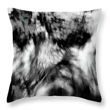 Surreal Rooster Feathers Throw Pillow