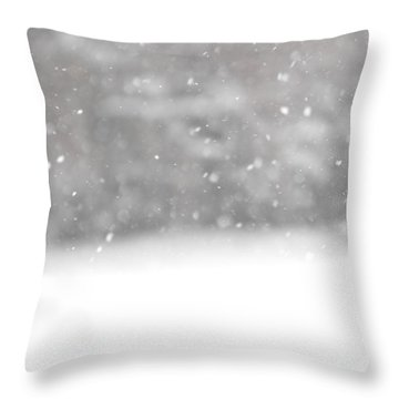 Surreal Snowdrops Throw Pillow
