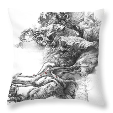 Surreal Space. Dry Leaves Series Throw Pillow