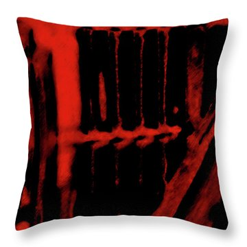 Surreal Staircase Throw Pillow by Gina O'Brien