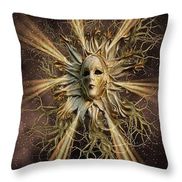 Surreal Sun Beam Throw Pillow