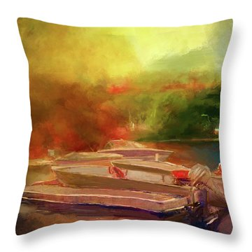 Surreal Sunset In Spanish Throw Pillow