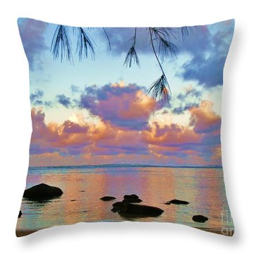 Surreal Sunset Throw Pillow by Michele Penner