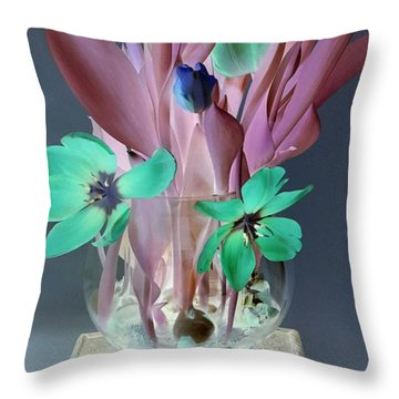 Surreal Tulips Throw Pillow