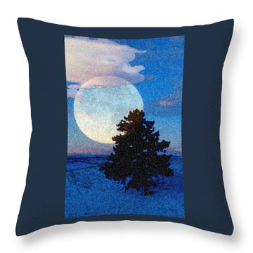 Surreal Winter Throw Pillow