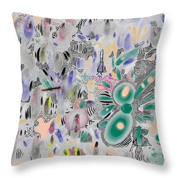 Surrealish Fishes Throw Pillow