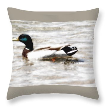 Surrealism Duck Throw Pillow