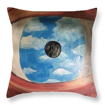Throw Pillow featuring the painting Surrealism by Janelle Dey