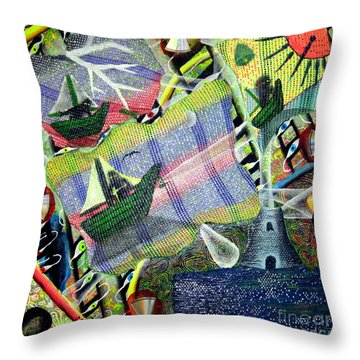 Surrealism Of The Souls Throw Pillow by Luke Galutia