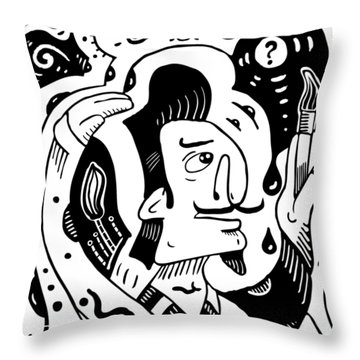 Surrealist Painter Throw Pillow
