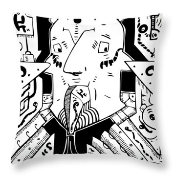 Surrealism Oil Pump Throw Pillow