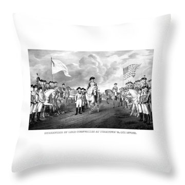 Surrender Of Lord Cornwallis At Yorktown Throw Pillow
