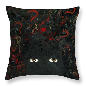 Surrounded By ? Throw Pillow