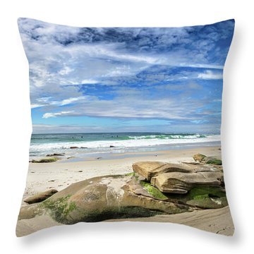 Throw Pillow featuring the photograph Surrounded By Beauty by Peter Tellone