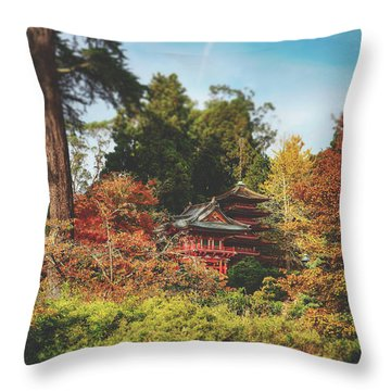 Surrounded By Fall Throw Pillow