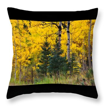 Surrounded By Gold Throw Pillow by Diane Alexander